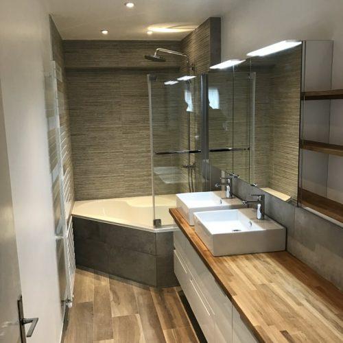 Salle de bains baignoire d'angle Bondues (Lille)