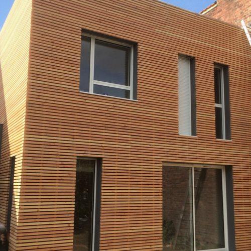 Extension maison bardage et ossature en bois à Croix (Lille)