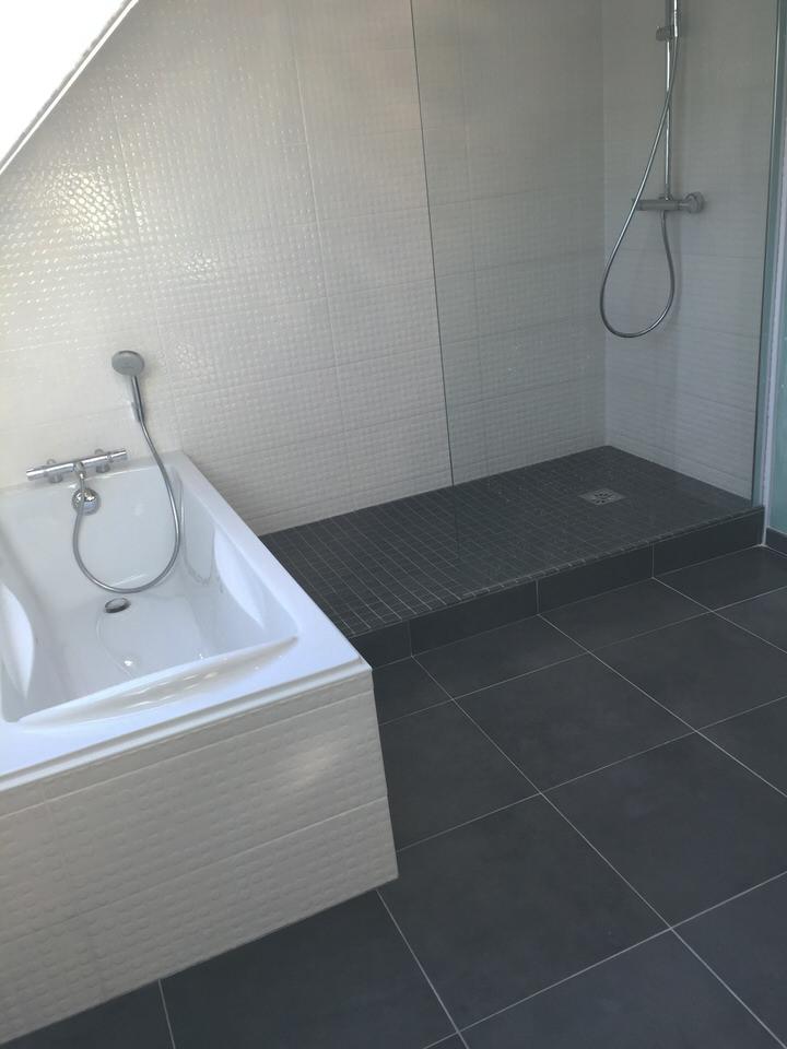 salle de bains avec colonne de douche wasquehal lille de souza barbosa habitat. Black Bedroom Furniture Sets. Home Design Ideas