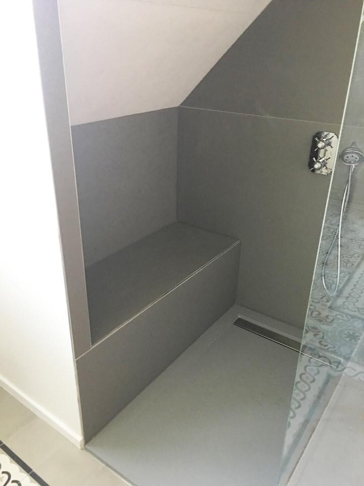 salle de bains avec douche italienne bousbecque lille de souza barbosa habitat. Black Bedroom Furniture Sets. Home Design Ideas