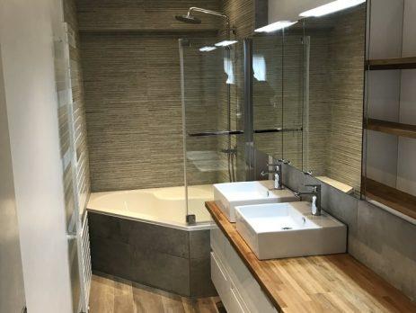 Salle de Bains avec baignoire d'angle à Bondues (Lille)