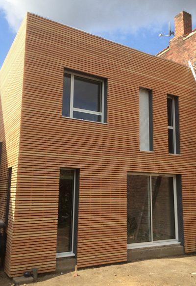 Extension de maison bardage et ossature en bois à Croix (Lille)