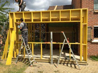Extension de maison avec ossature en bois à Lambersart (Lille)